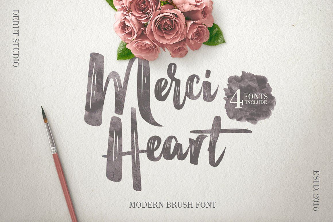 Merci Heart Brush (30% Off) example image
