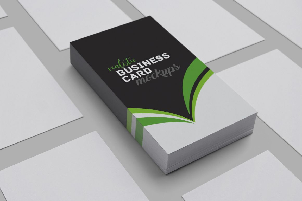 Realistic Business Card Mockups by h3de | Design Bundles