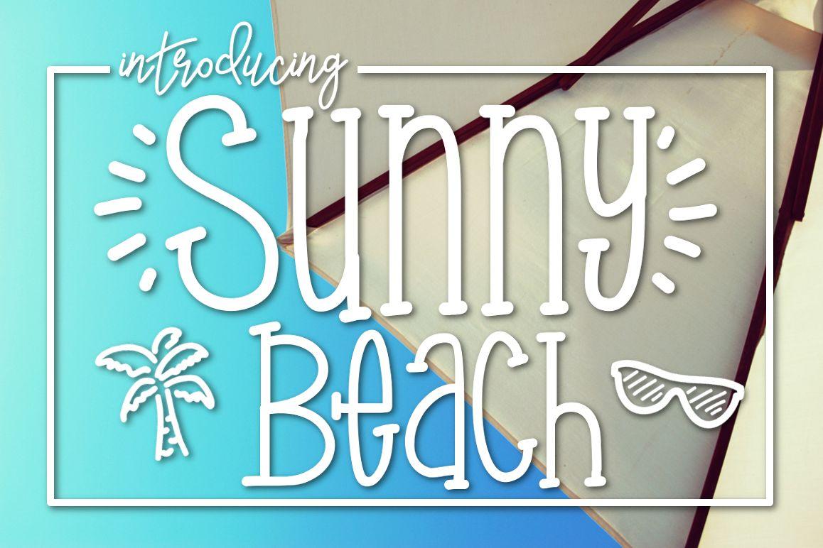 Sunny Beach a Handwritten Typeface example image