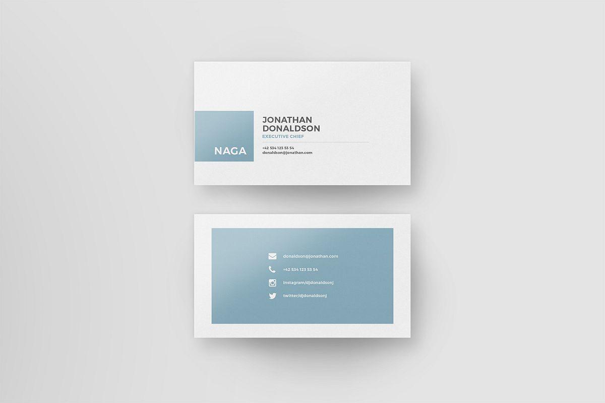 Naga - Business Card Template by Tugcu   Design Bundles