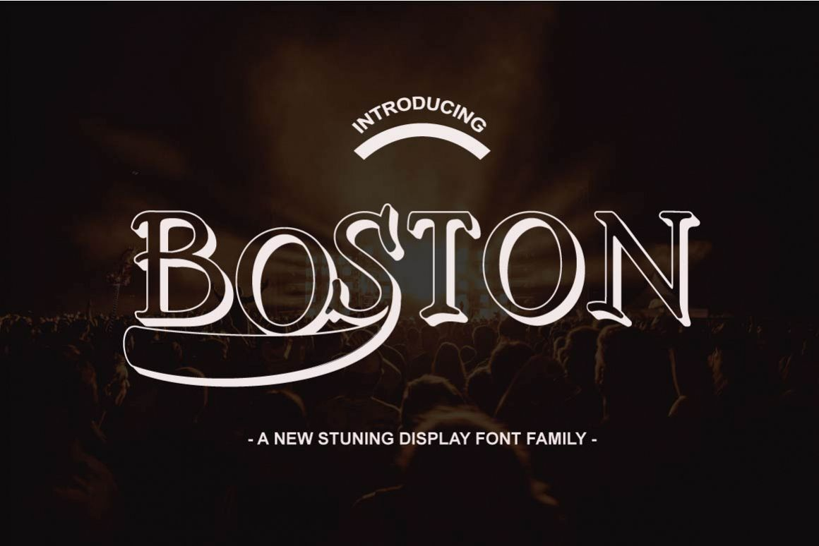 Boston font family by antimainstype font bundles