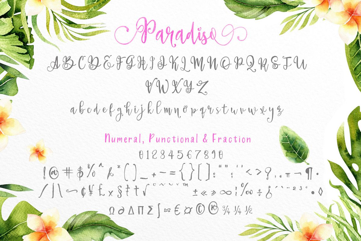 Paradiso - Fonts Duo example image 7