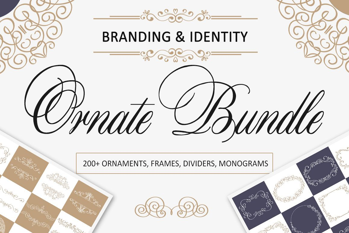 Ornate Bundle. Over 200 frames and dividers example image