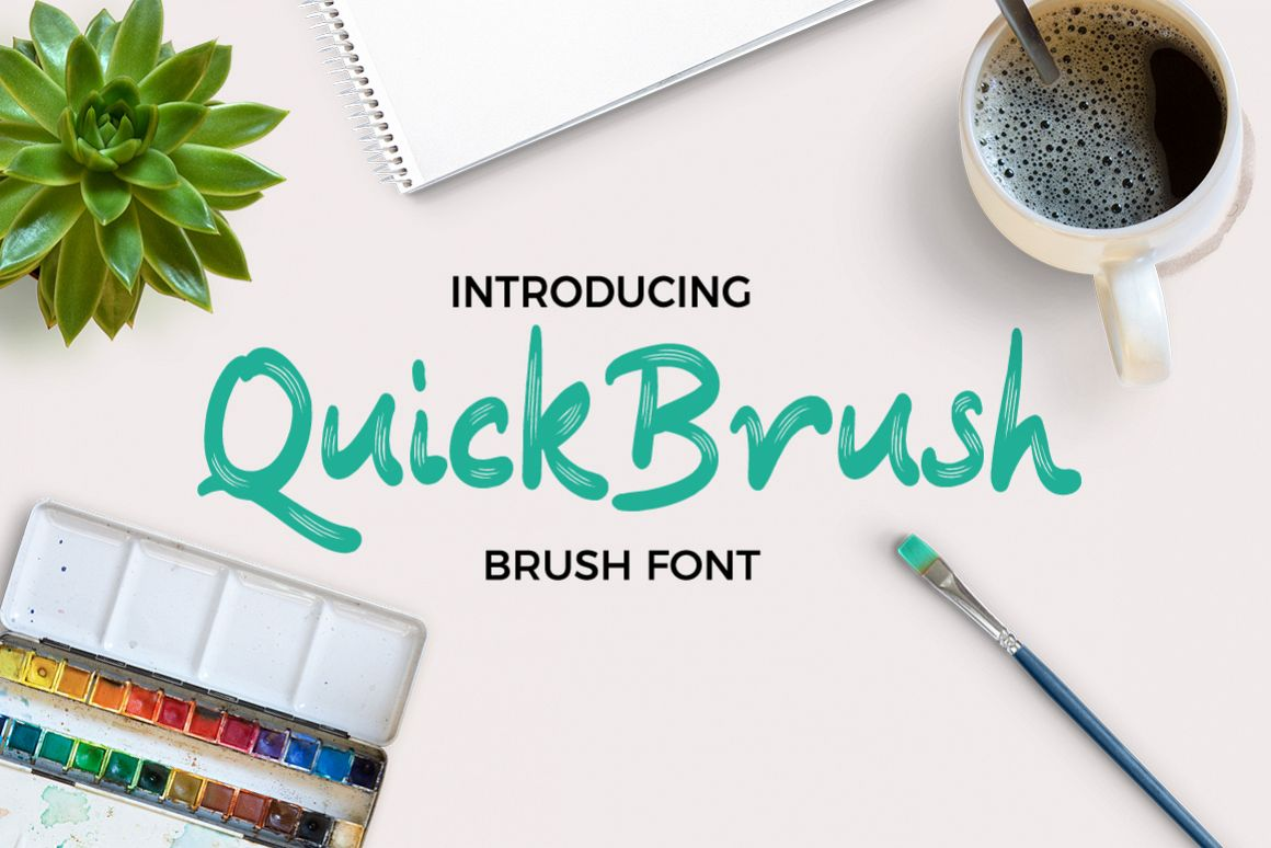 Quickbrush Font example image