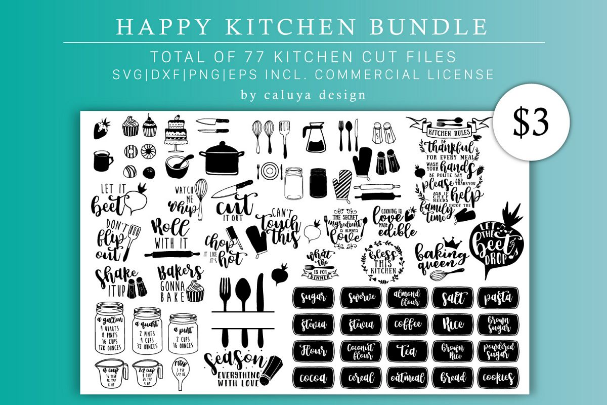 Happy Kitchen SVG Cut File Bundle by Ca | Design Bundles