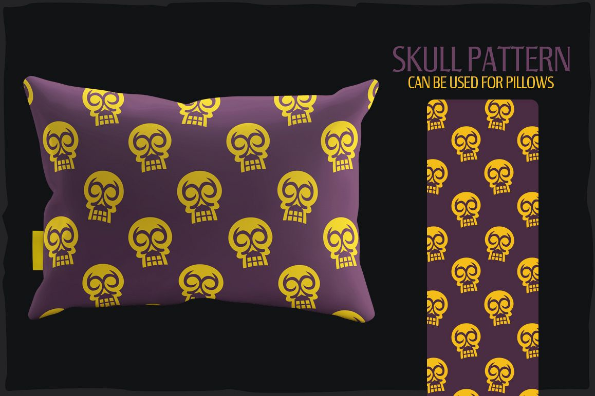 20 Skull Seamless Vector Patterns example image 6