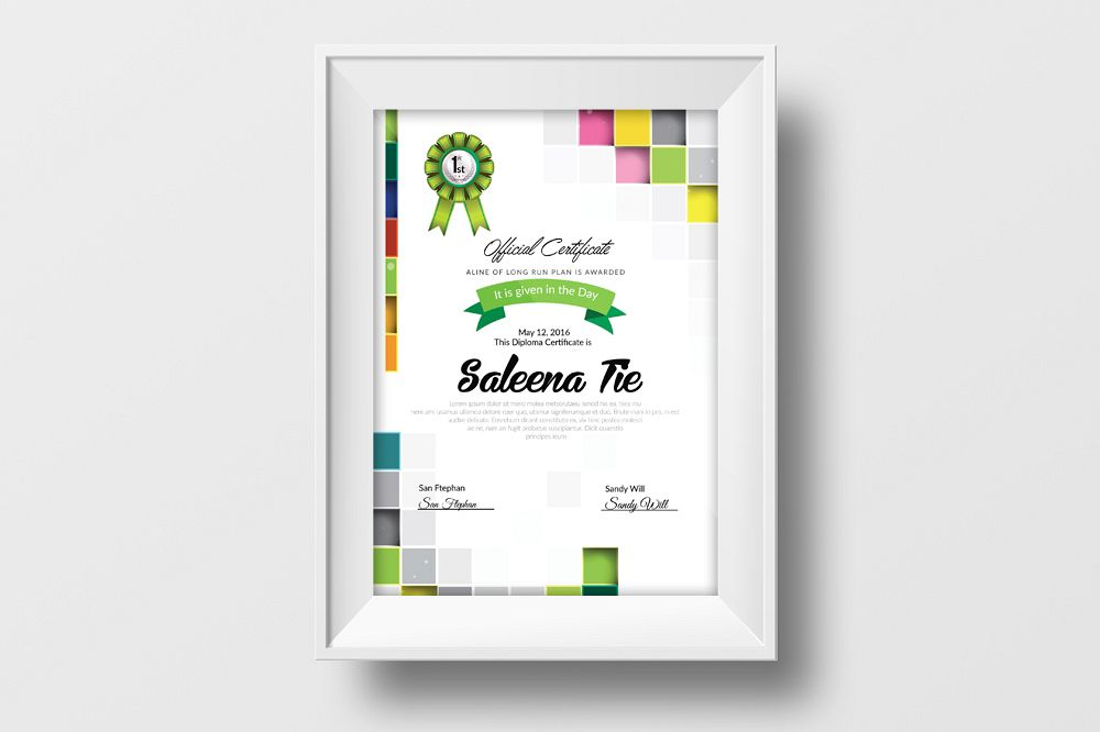 Clean diploma certificate template by d design bundles clean diploma certificate template example image yelopaper Image collections