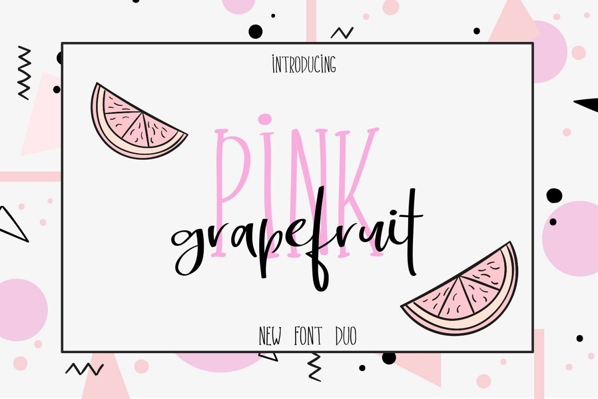 Pink Grapefruit font duo example image