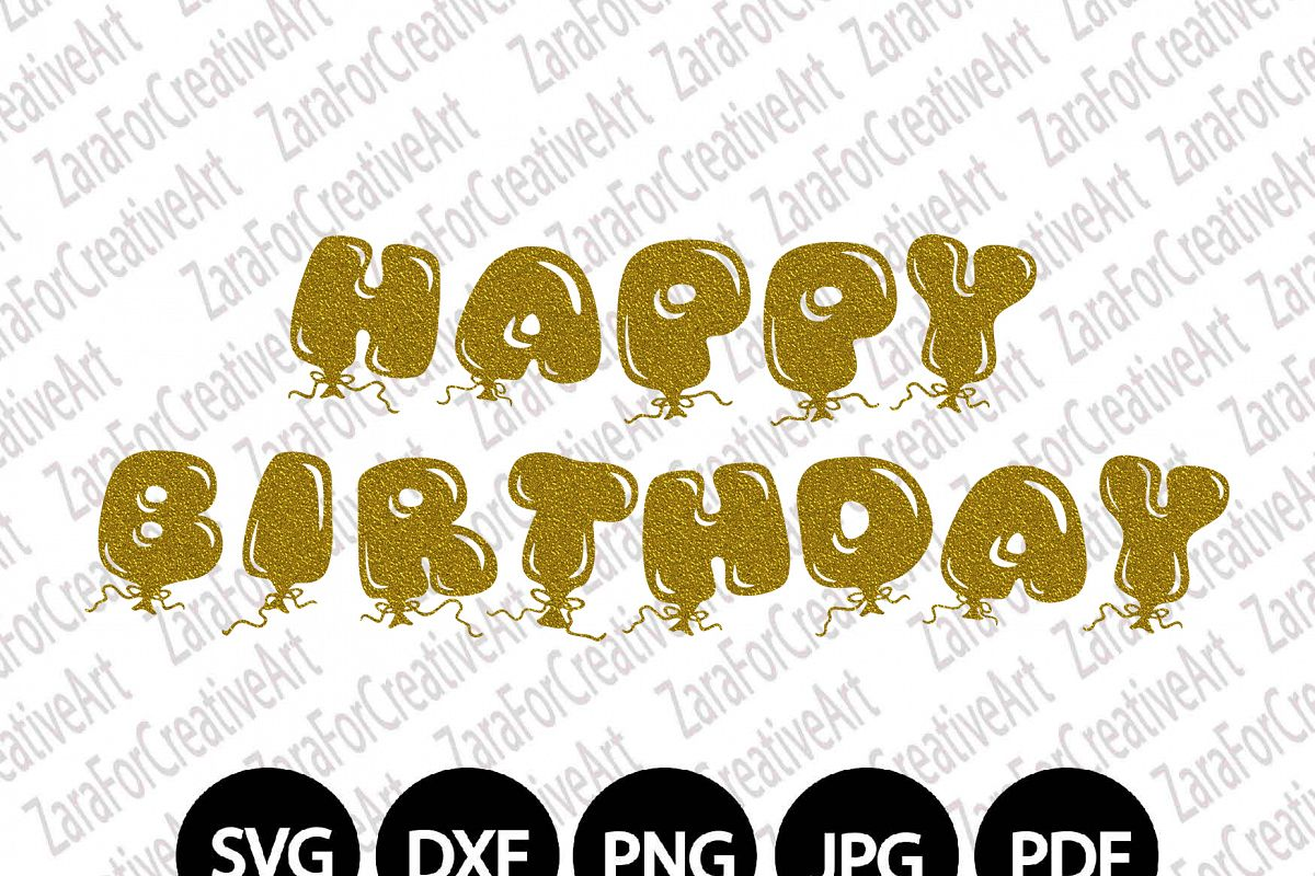 Happy Birthday SVG DXF PNG Cutting file | Design Bundles