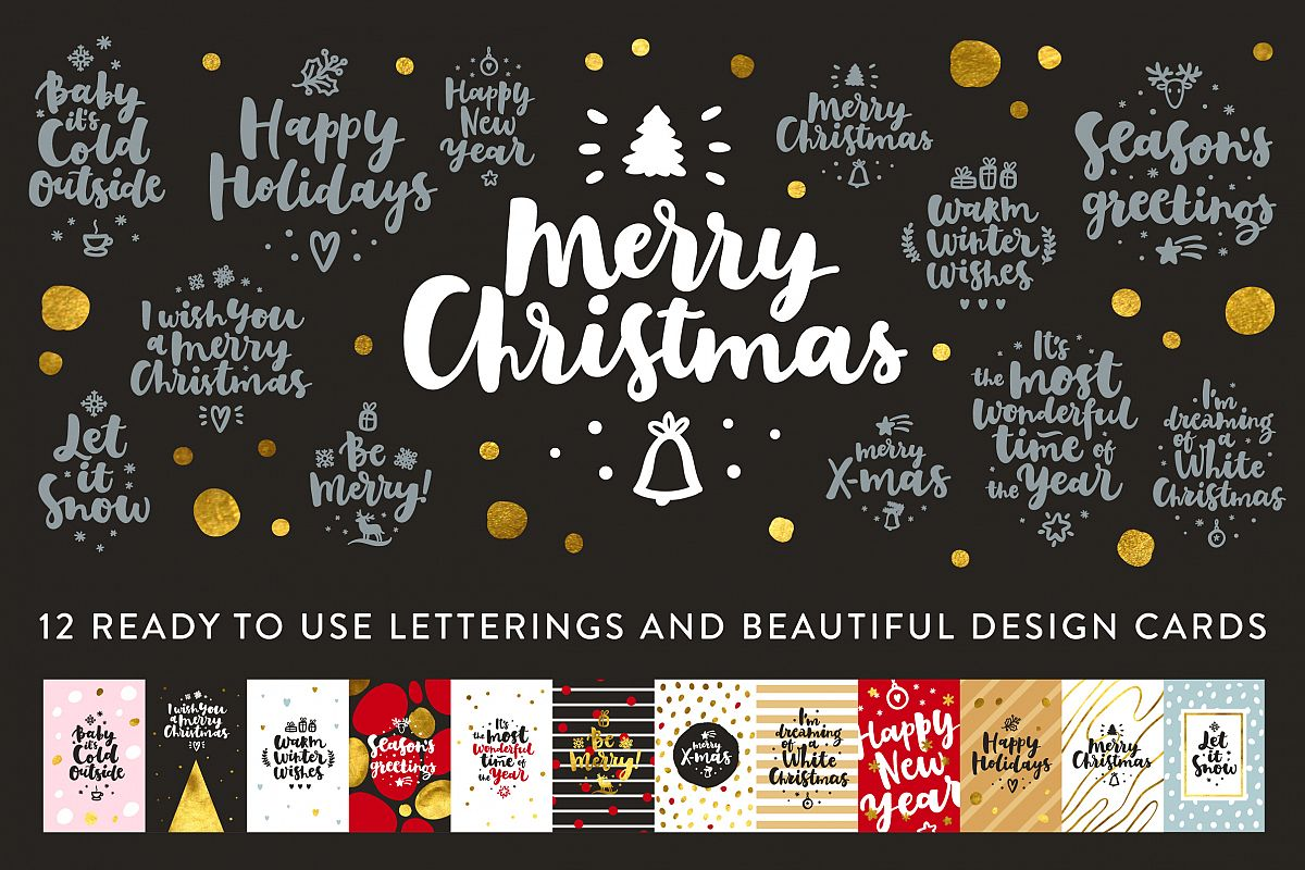 Merry Christmas Vector Set example image