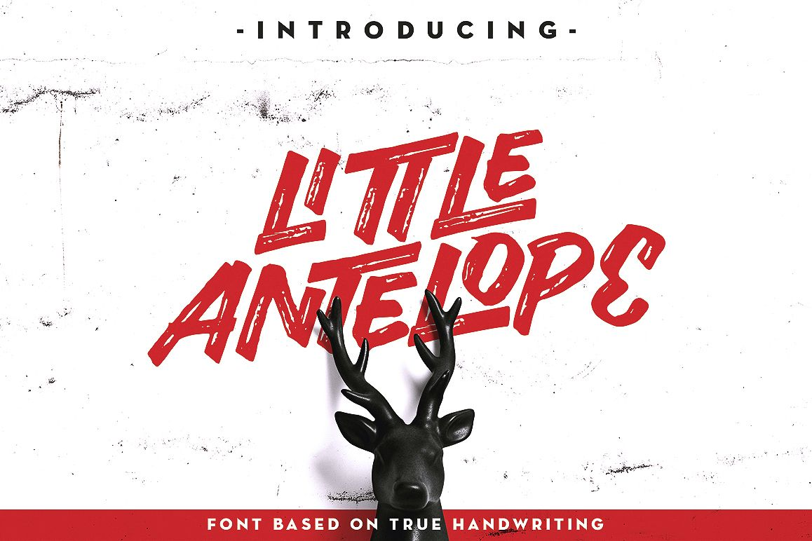 Little Antelope Font example image