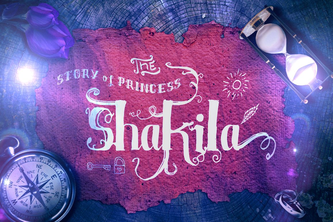 Shakila Typeface Hand Drawn Ornament example image