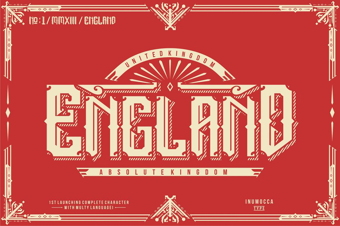 England + Poster vector example image