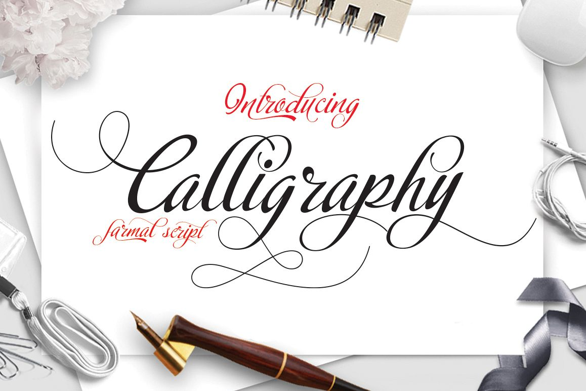 Calligraphy script example image