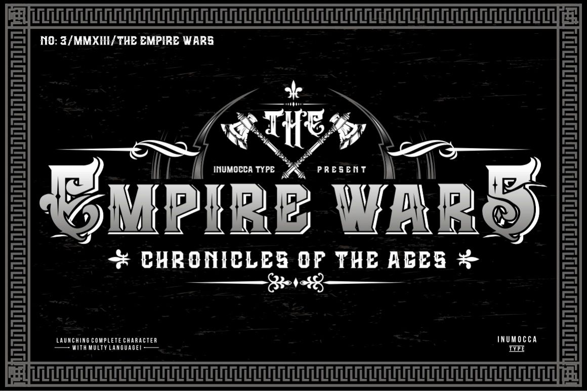 The Empire Wars (family font) example image