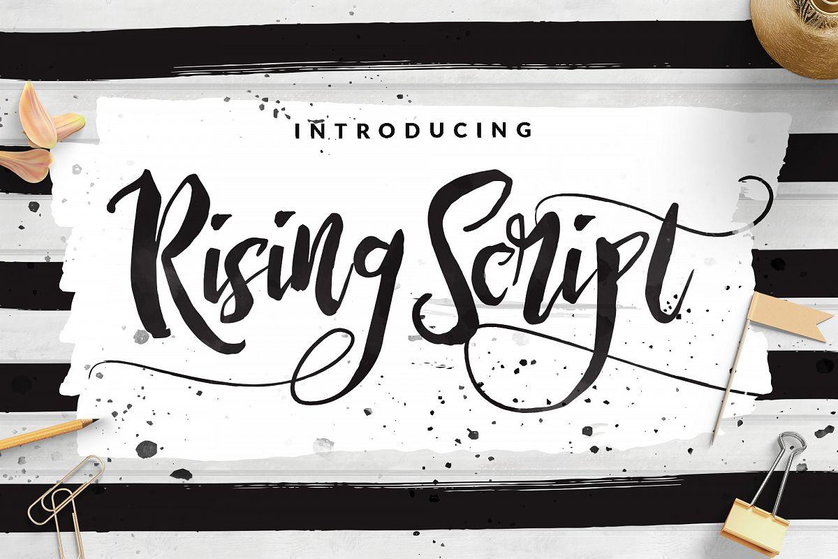 Rising Brush Script example image