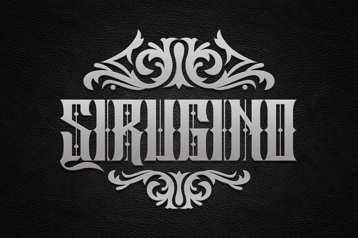 Sirugino Typeface example image