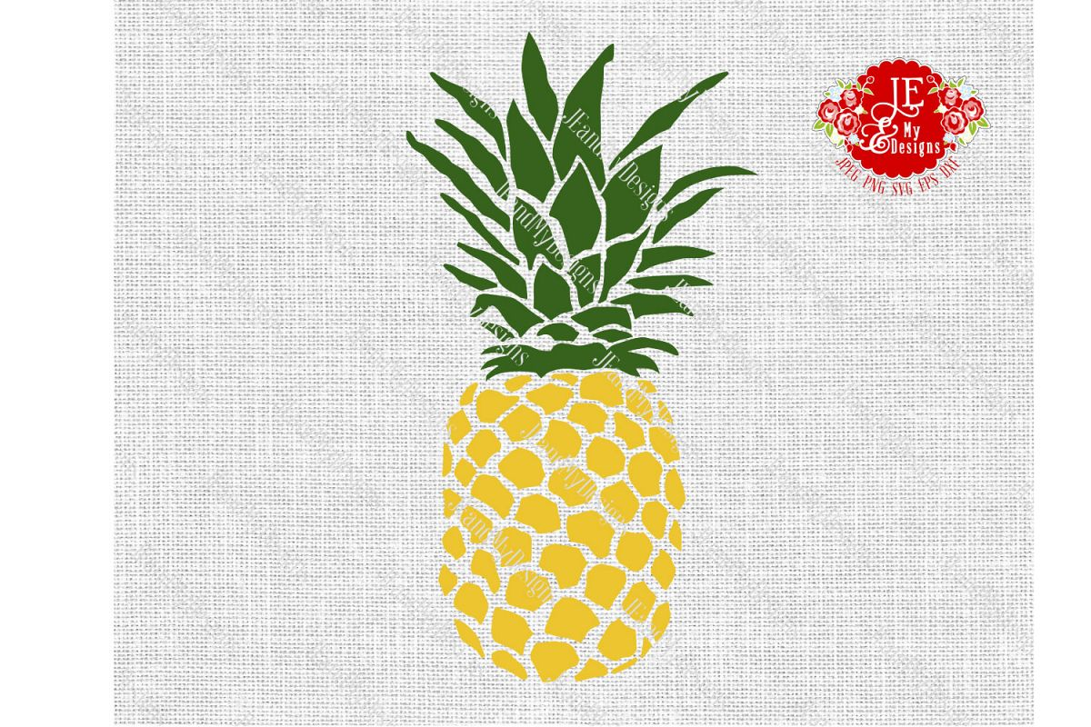 Golden Pineapple SVG, JPEG, PNG, EPS, DXF example image