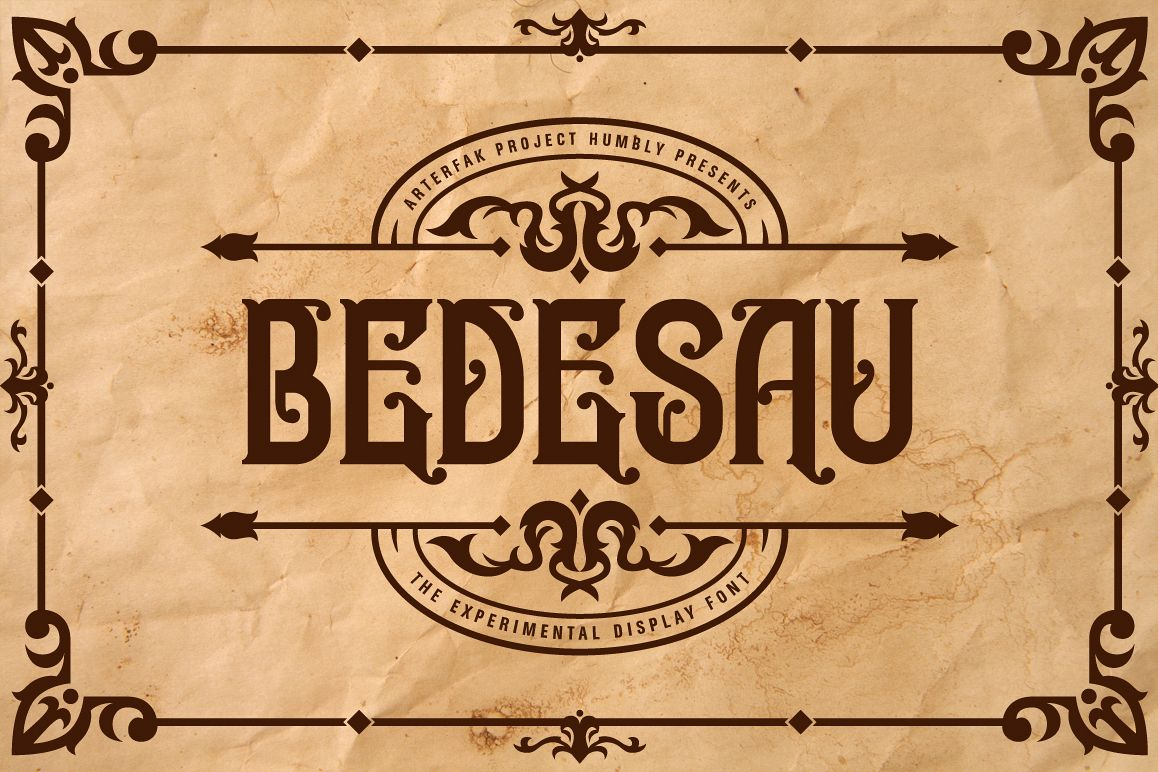 Bedesau Typeface example image