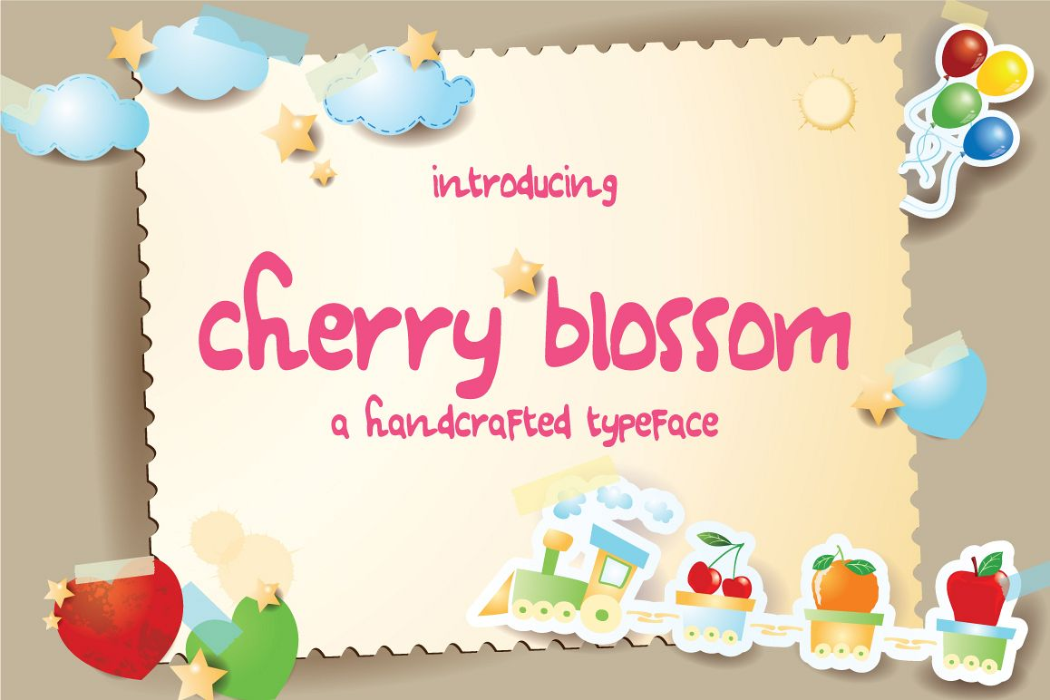Cherry Blossom Typeface example image