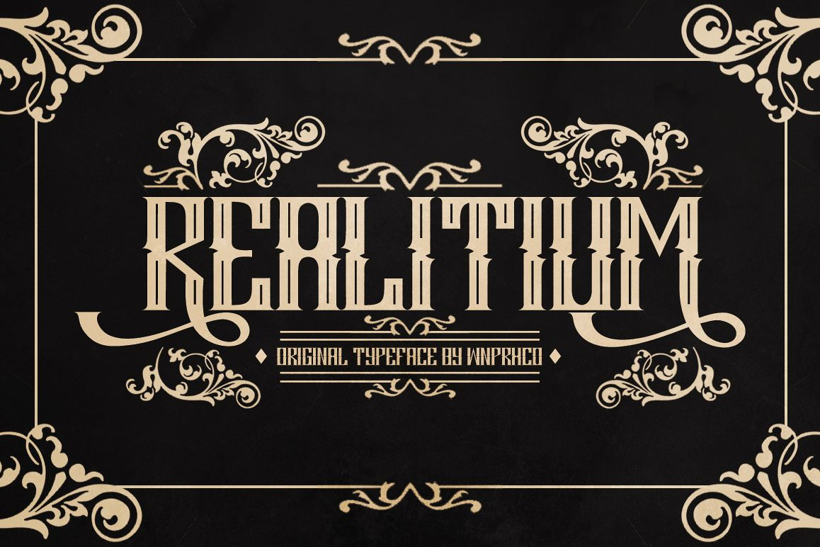 Realitium Font example image