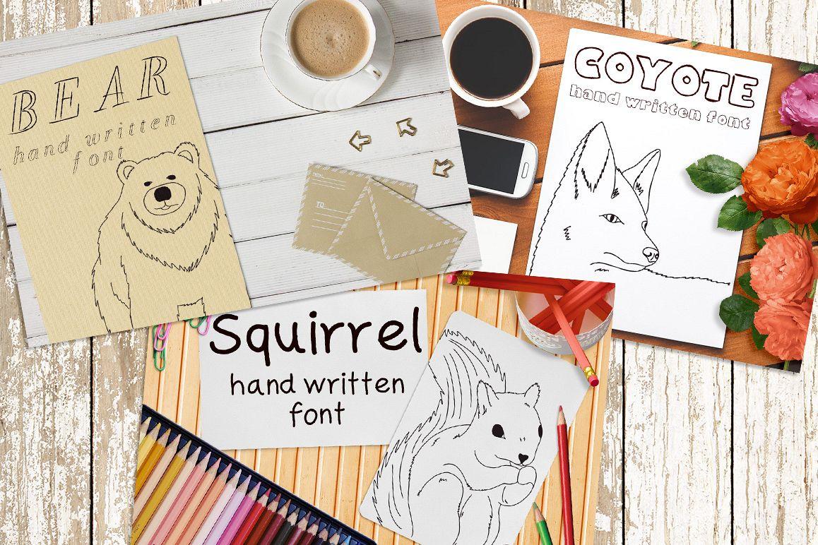 Font No.10, No.11 and No.12 example image