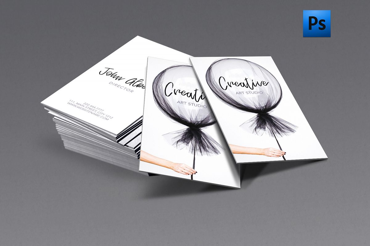 New fashion art creative business card | Design Bundles