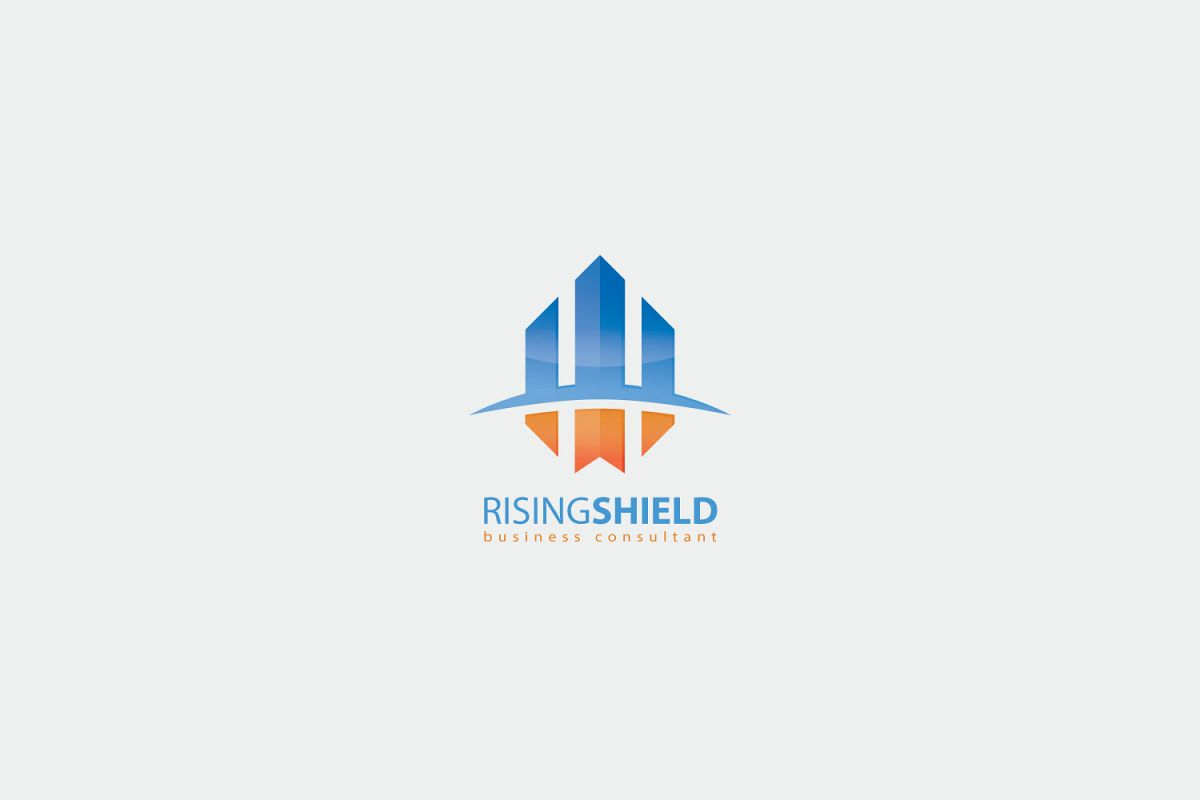Rising Shield Logo Template by KreasiMa   Design Bundles