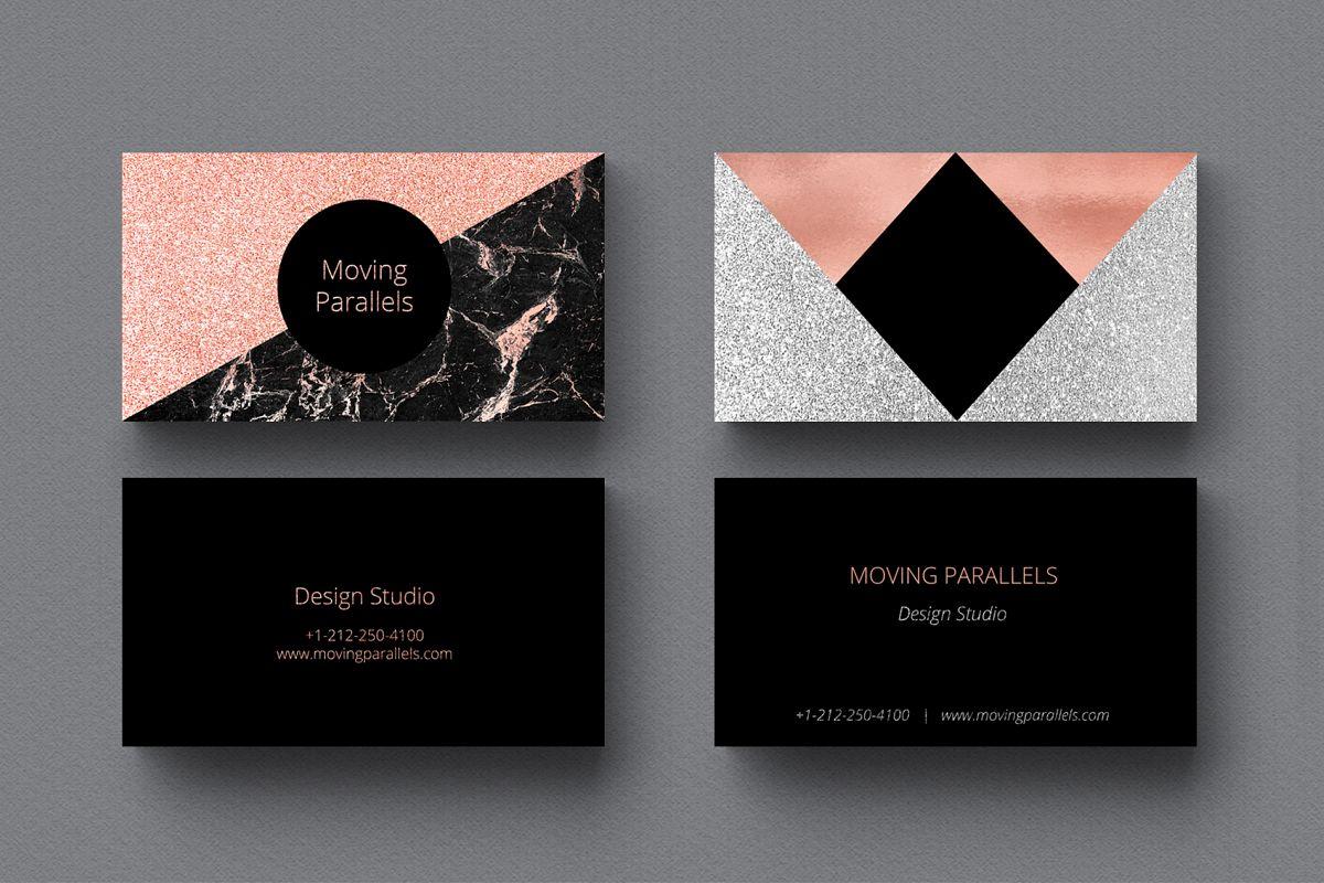 Rose Gold Marble Business Cards Bundle | Design Bundles