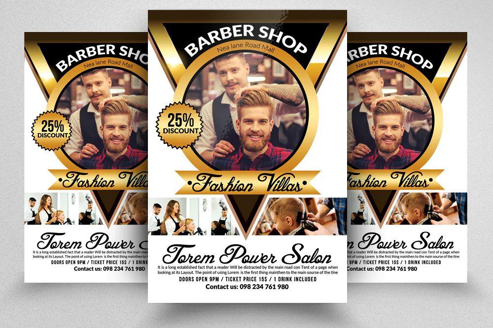 barber shop flyers