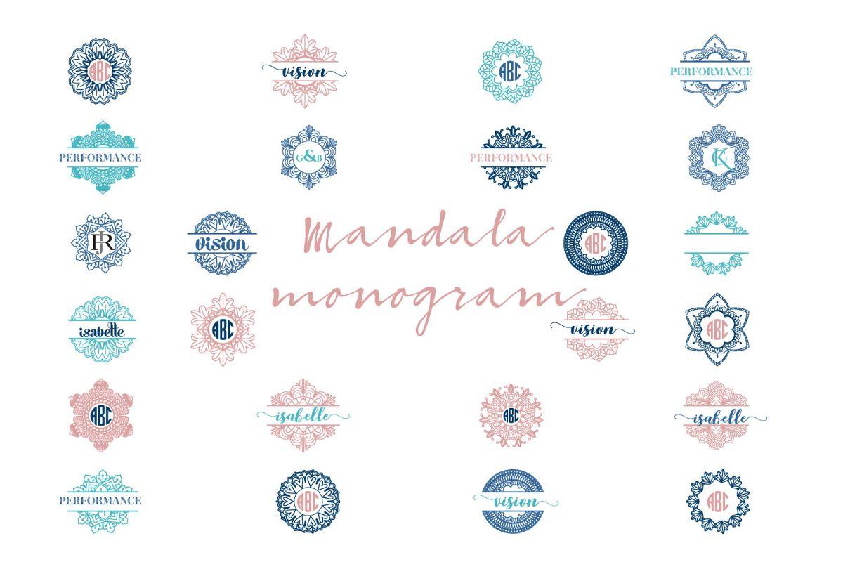 Mandala Monogram Logo Bundle example image