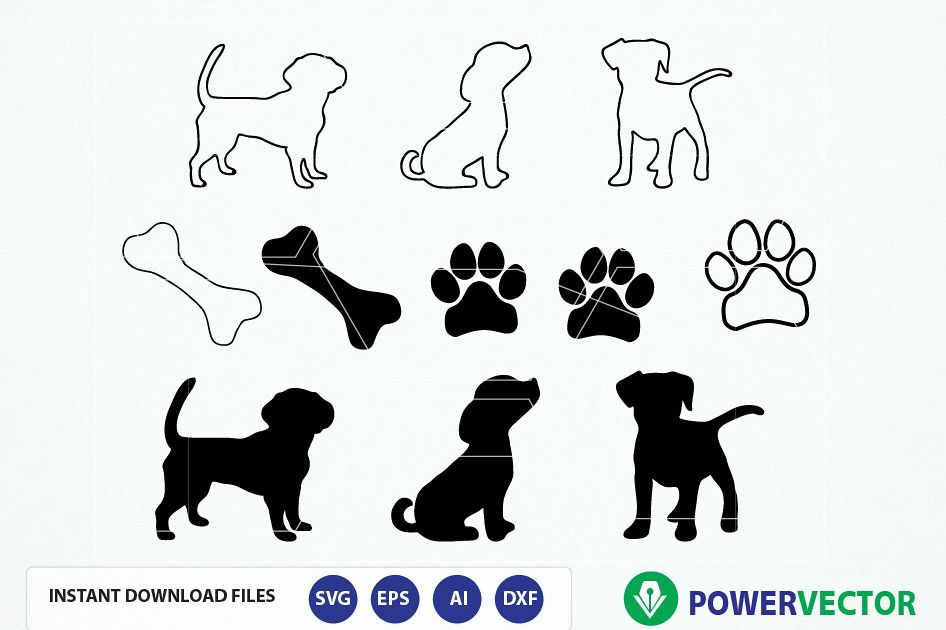 Download Dog Puppy SVG File. Dog Cut File. Dog P | Design Bundles