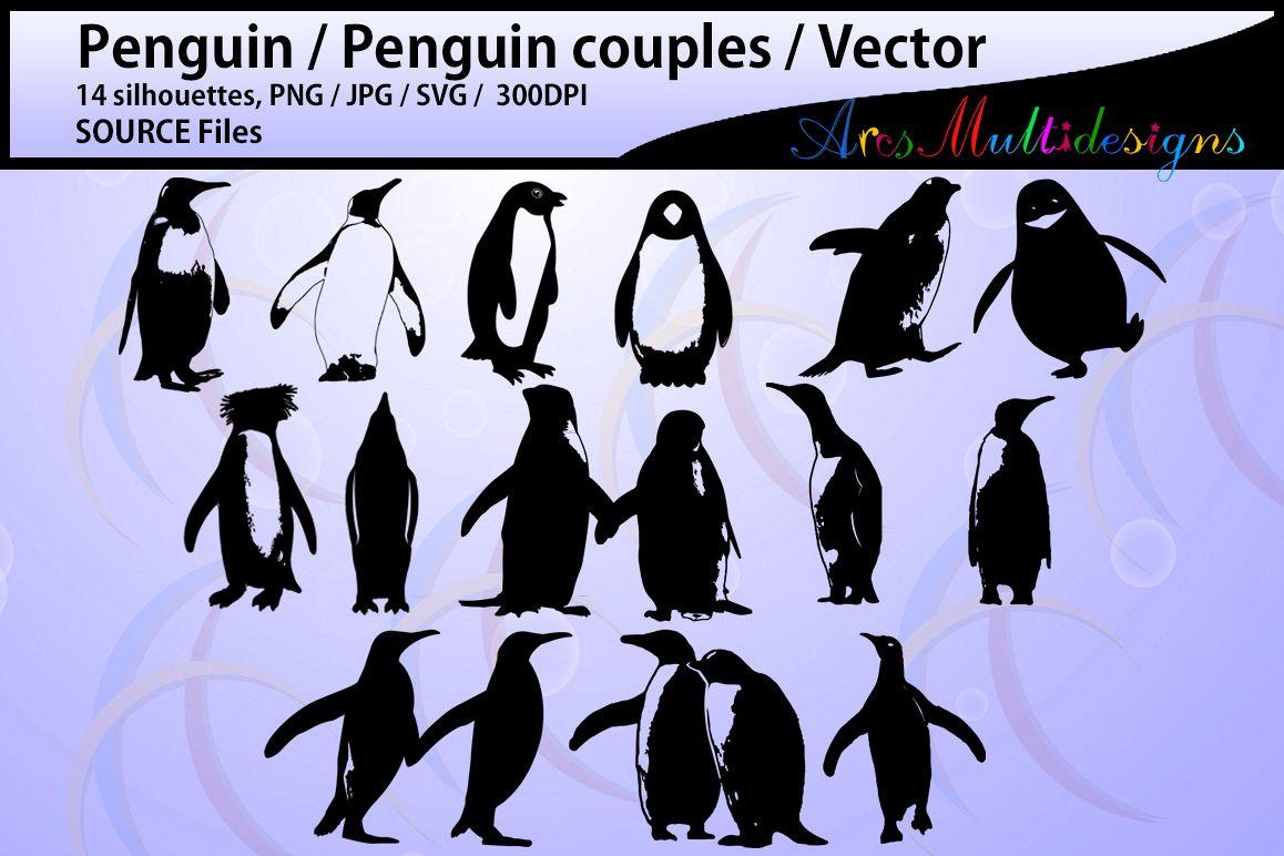 penguin silhouette svg / penguin / high | design bundles