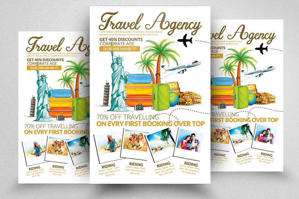 Tour Travel Agency Psd Flyer Template B Design Bundles