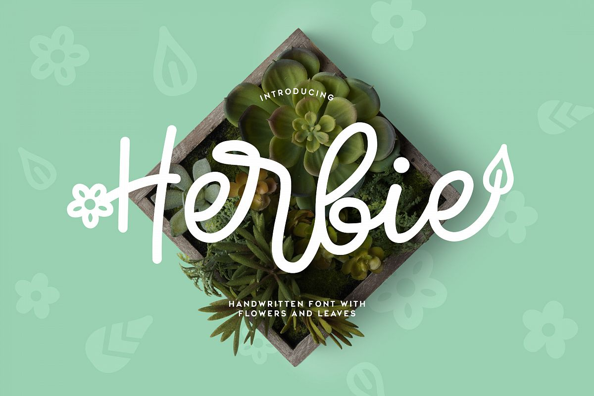 Herbie - A Flowery Font example image