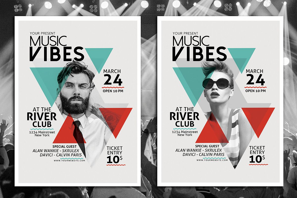 Minimal Music Flyer Template by muhamad | Design Bundles