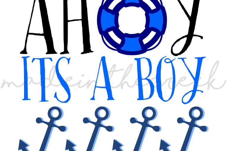 It S A Boy Quotes: Ahoy It's A Boy, Nautical, Baby Shower,