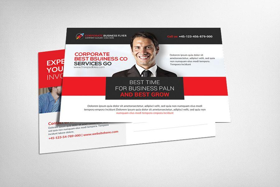 Postcard Psd Template by Business Templ | Design Bundles