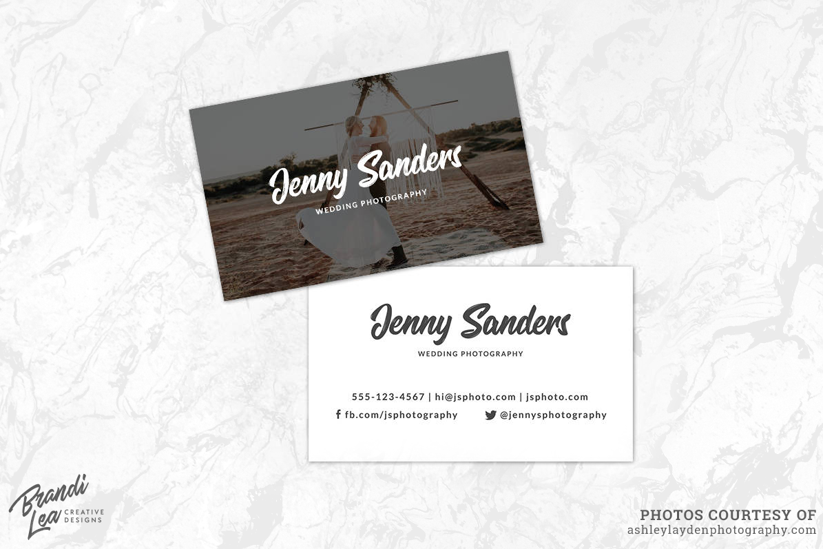 Photography Business Card Template by B | Design Bundles