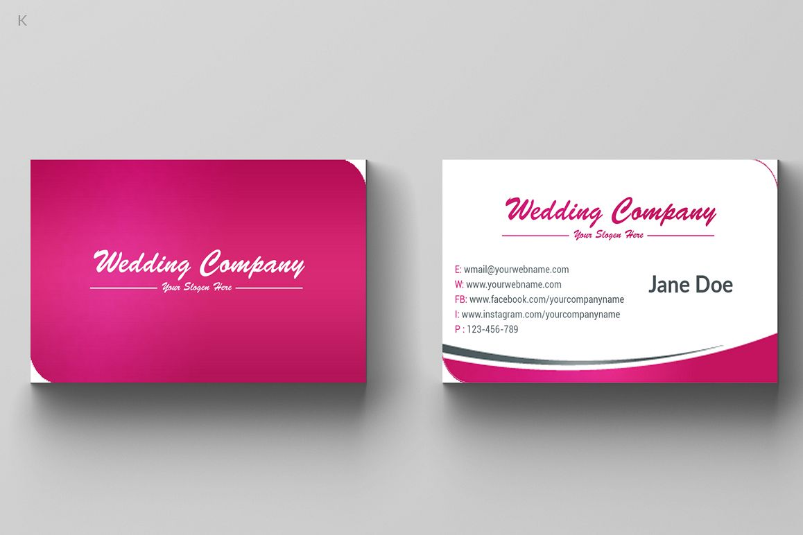 Wedding Business Card by Pro Design | Design Bundles
