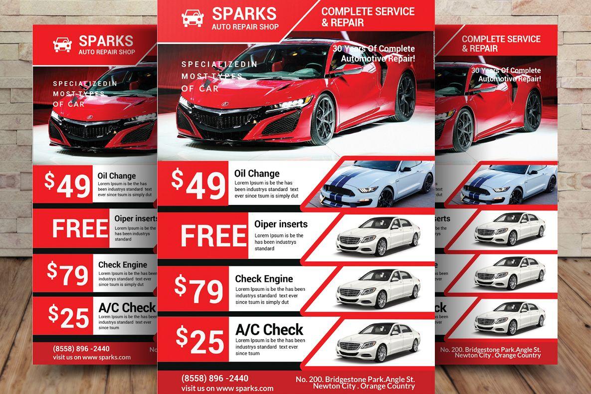 automotive repair flyers examples north road auto 845 471 8255