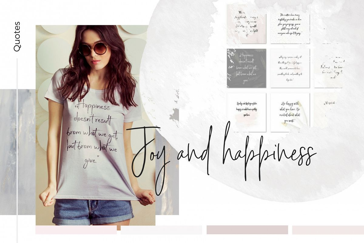 Joy and Happiness quotes example image