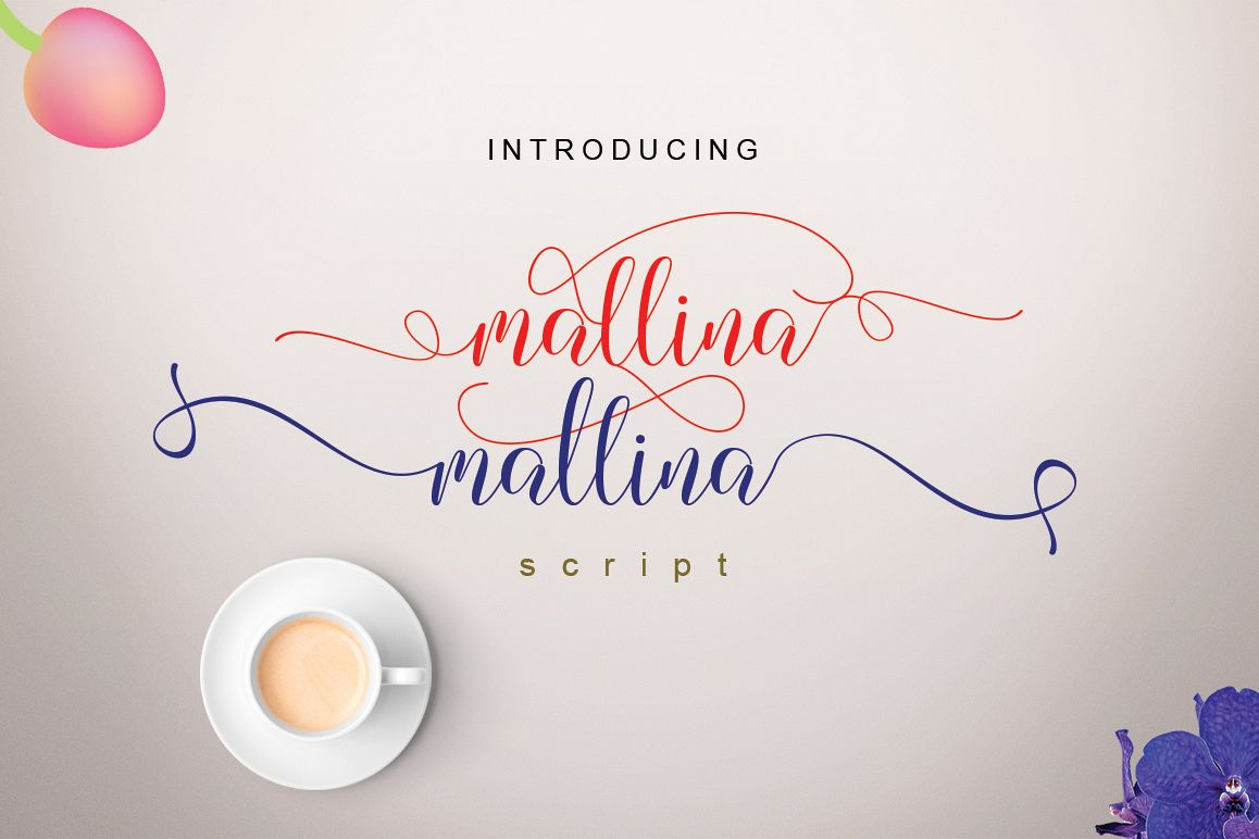 Mallina Script example image