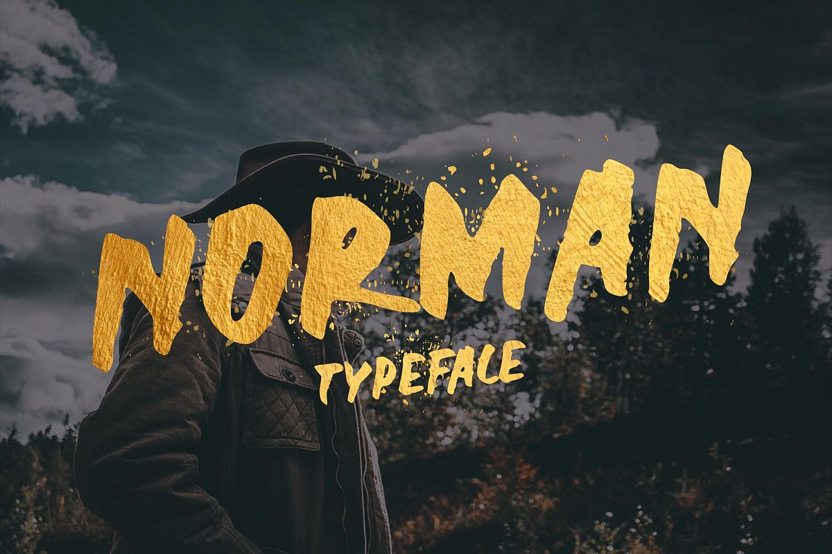 Norman Display Font example image