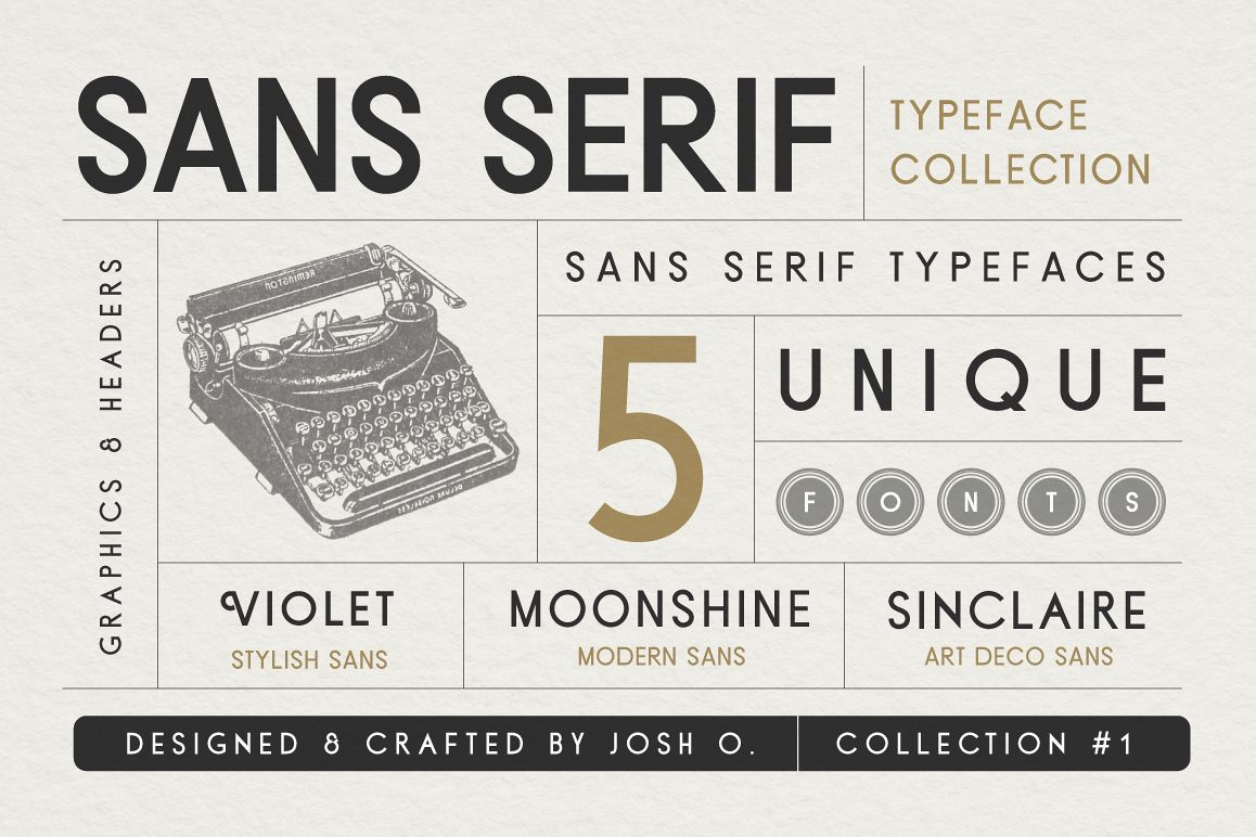 Sans Serif Typeface Collection example image