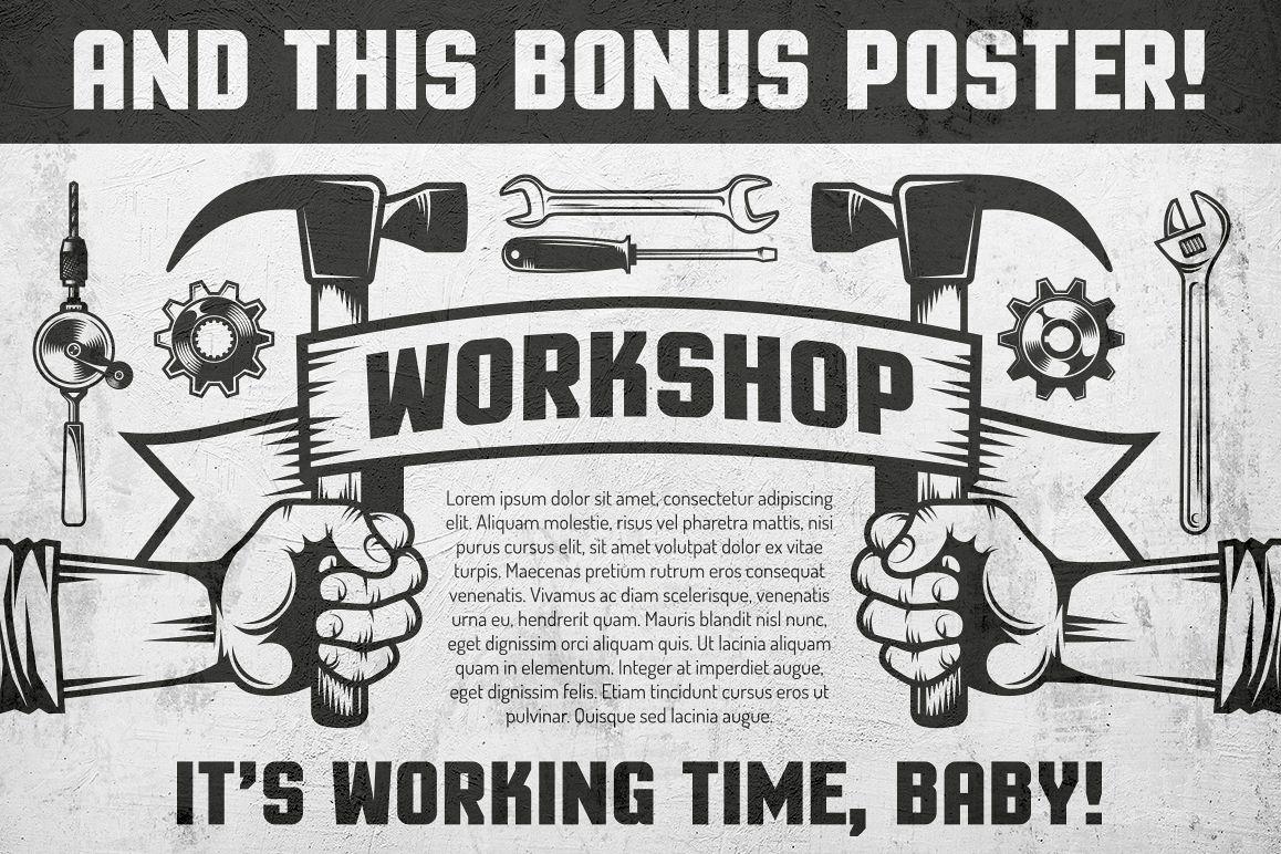 Repair workshop logo set example image 6