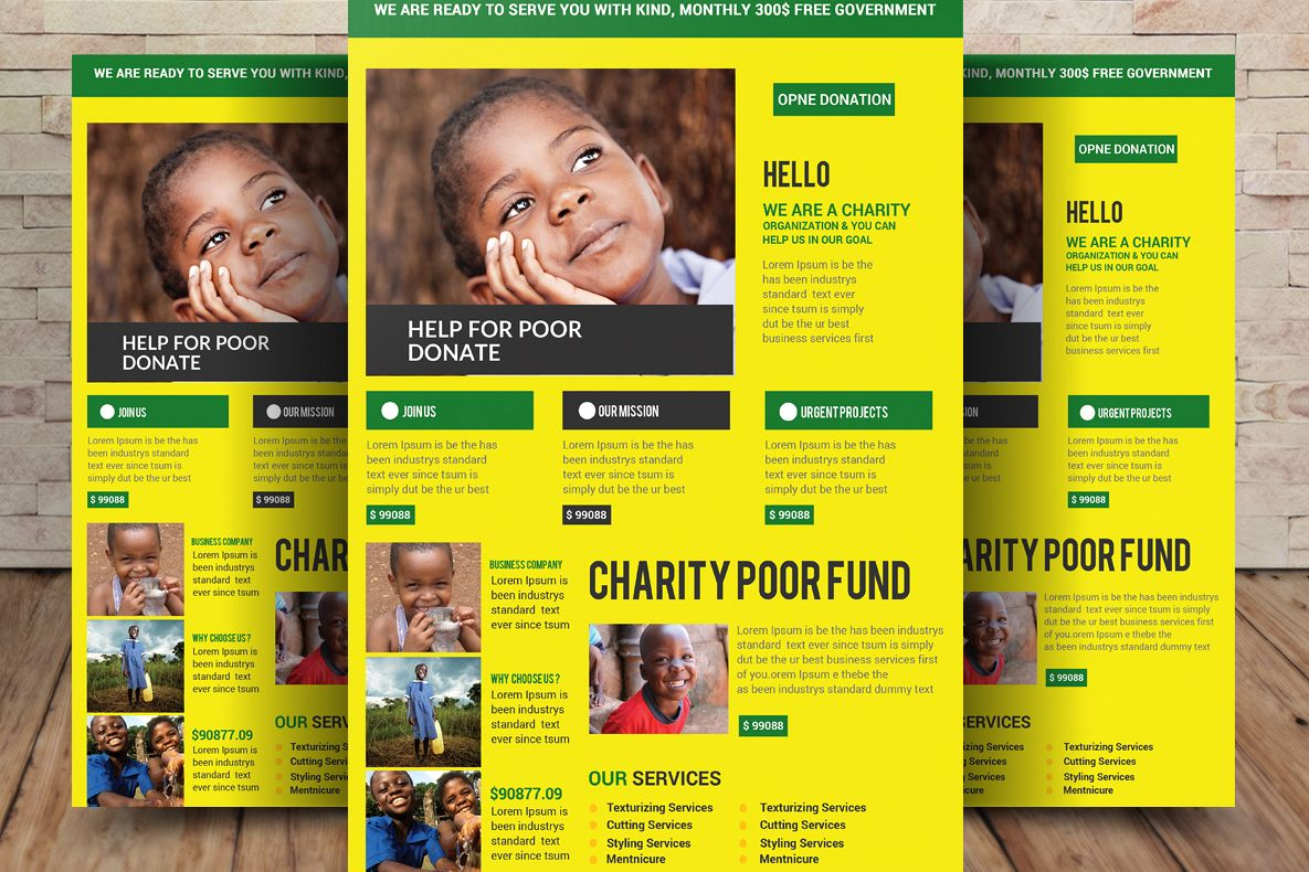 Charity Fundraisers Flyer example image