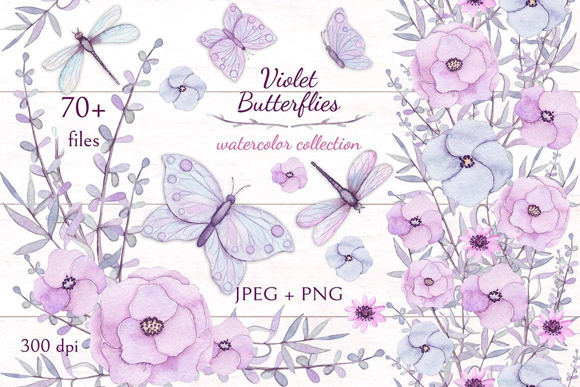 Violet Butterflies example image