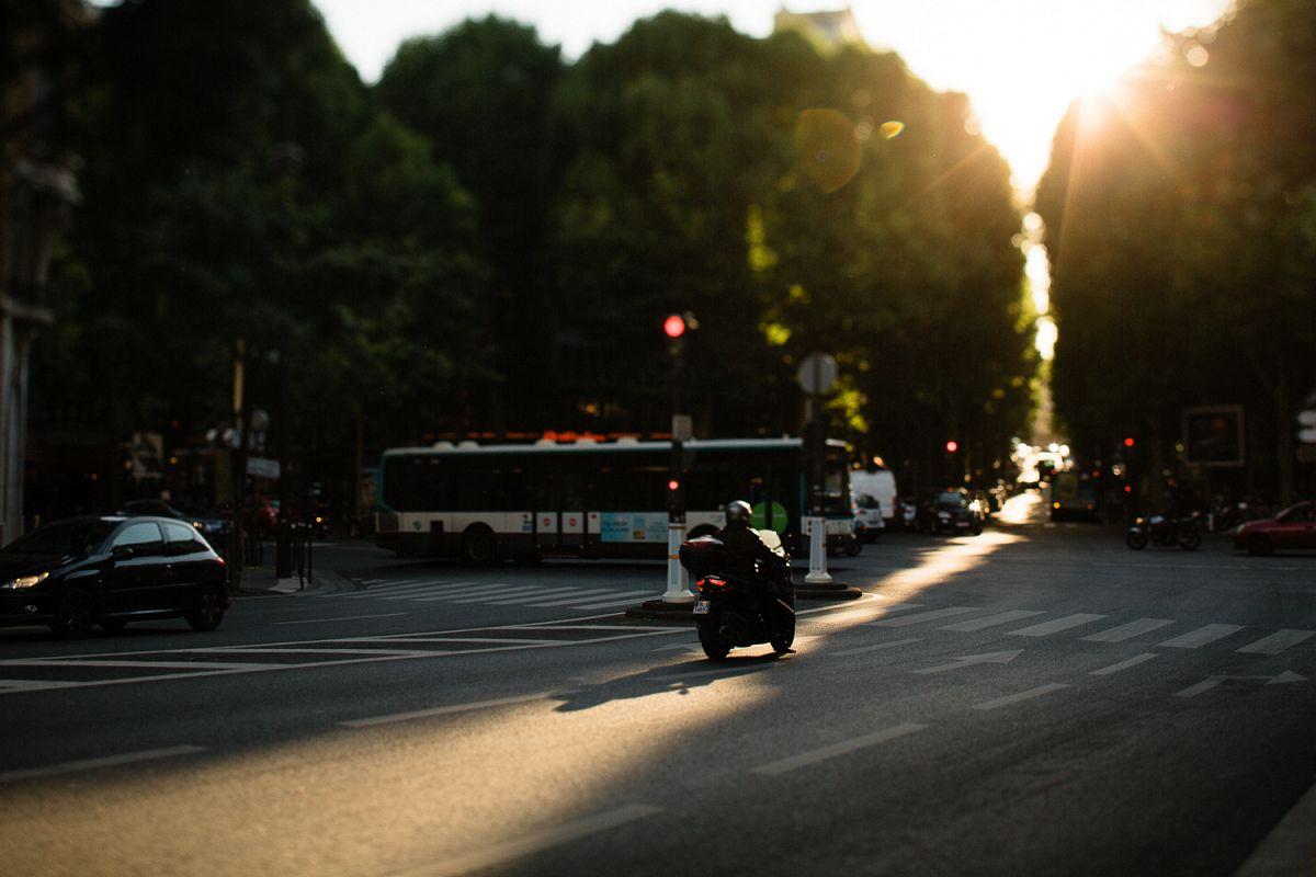 Sunset in Paris example image