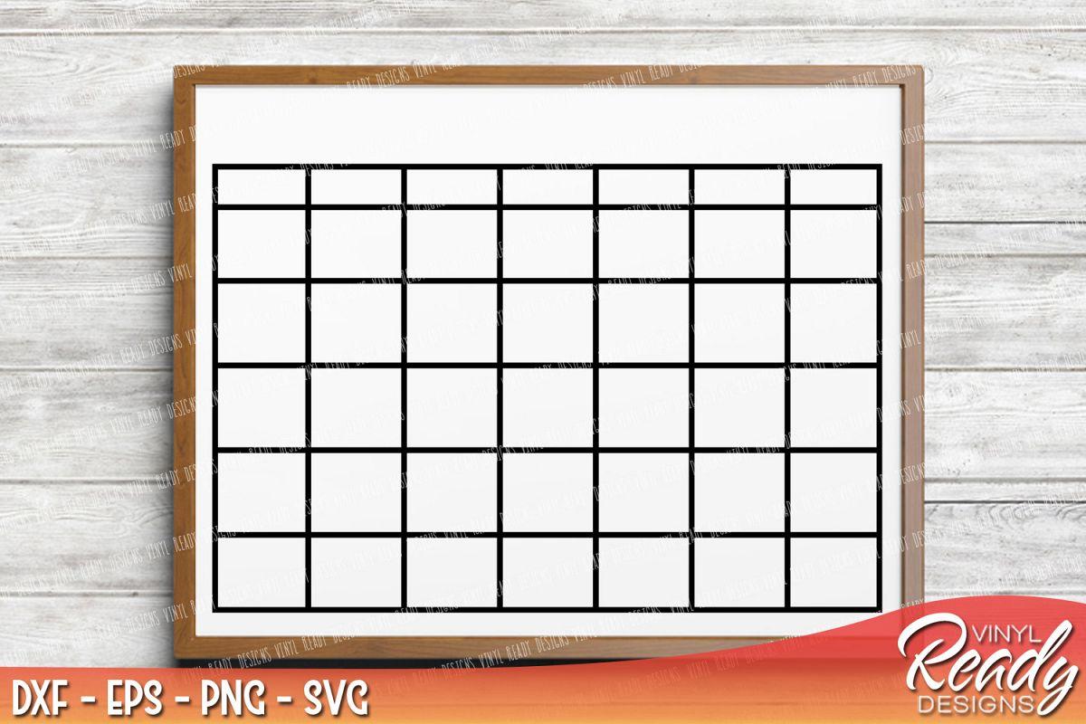 Blank Calendar Svg : Monthly calendar blank template vecto design bundles